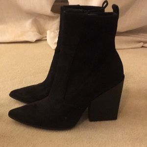 Kendall and Kylie pointed heel Booties